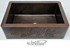 "36"" Ariellina Farmhouse 14 Gauge Copper Kitchen Sink Lifetime Warranty AC1910"