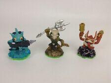LOT (3) Activision Skylanders Game Figures Gill Grunt Trigger Happy Voodood