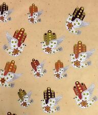 Jewish Fabric Dove of Peace on Beige