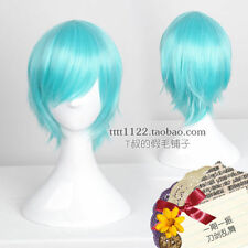 ONLINE- Optimus Prime The Sword Dance Short Blue Cosplay Wig Hair