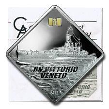 Palau Italian Battleship RN Vittorio Veneto $10 2011 Proof Silver Crown COA