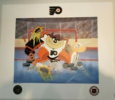 "Philadelphia Flyers Taz Looney Tunes ""Devil of a Save"" 22 x 19 Lithograph Coa"