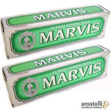 2 x Marvis Zahncreme 75ml Classic Strong Mint Zahnpasta aus Italien Florenz Grün