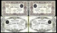 2x  500, 1000 Fr. - Edition 1829 - 1831 - Reproduction - 25