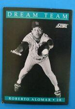 1991 Score Baseball Cards #887 - Roberto Alomar (Dream Team 7 of 13) Ungraded