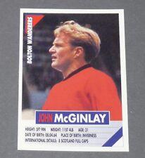60 McGINLAY SCOTLAND BOLTON WANDERERS PANINI FOOTBALL PREMIER LEAGUE 1995-1996