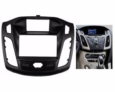 2 Din Dash Mount Trim Kit Frame Fascia Stereo For FORD Focus III C-Max 2011 up