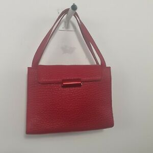 Mandarina Duck Red Pebble Leather Shoulder Bag Sz S