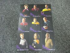 Star Trek Voyager Heroes & Villains - Complete 9 Card Black Gallery Set BB1-BB9