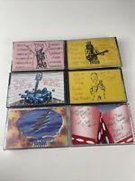 Lot of 6 Grateful Dead Cassette Tapes from 1991 Halloween - MSG - Shoreline