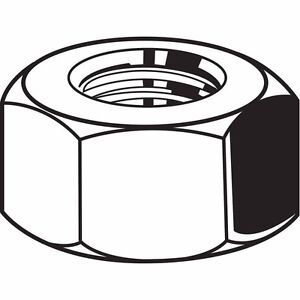 """Carbon Steel Hex Nut with 3/4""""-16 Dia./Thread Size; PK20 (M2609*K)"""