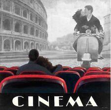 Marco Fabiano: Cinema Roma Fertig-Bild 88x88 Wandbild Film Kino Paar Rom