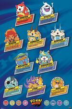 YO-KAI WATCH TOP TEN 24x36 poster YOUKAI NINTENDO GANSO HONKE NATE BUSTERS NEW!!