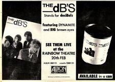 "31/1/81PN36 Advert: The Dbs Live At The Rainbow Theatre 20th Feb81 7x11"""