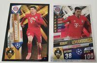 2020 Match Attax 101 Soccer Card Lewandowski World Star W4 100 Club Bayern