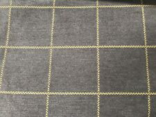 Gray Yellow Chenille Square Upholstery Fabric 5.5 Yds