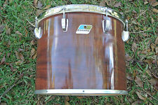 """70's/80's Ludwig USA 15"""" CONCERT TOM in MAHOGANY CORTEX for YOUR DRUM SET #V830"""