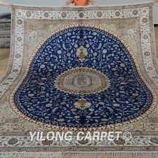 Yilong 9'x12' Oversize Classic Silk Area Rugs Hand Woven Carpets Hand made 1290