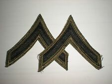 ORIGINAL VIETNAM US ARMY SUBDUED PRIVATE RANK - EMBROIDERED ON TWILL - 1 PAIR