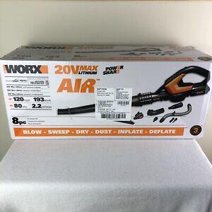 WORX WG545.1 AIR 20V PowerShare Lightweight Cordless & Attachments Bag Free SH