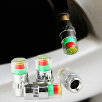 4* Car Wheel Pressure Caps 36 PSI Tire Air Dust Monitor Sensor Valve Tyre Kit UK