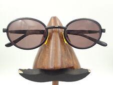 Vintage Police 2410 531 Black Metal Oval Eyeglasses Sunglasses Frames Italy