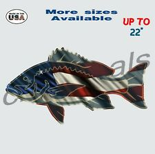 American Red Snapper Decal Sticker Fishing Car & Truck Window Decals large.