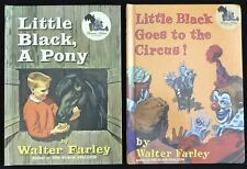 2 WALTER FARLEY HB Little Black, A Pony + Little Black Goes to the Circus