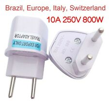 Universal Travel Power Plug Adaptor TO EU ITALY SWITZERLAND Brazil europe_sx