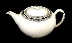 Beautiful Wedgwood Amherst Platinum Trim Teapot
