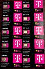 10X Newest T-Mobile SIM CARD R15 5G 4G LTE TMobile 3 In 1 Triple Cut Nano Micro
