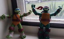 """Two Teenage Mutant Ninja Turtles Leonardo & Raphael 4 1/2""""  Action Figures 2012"""