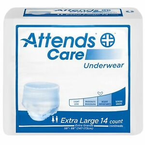 Attends Disposable Underwear X-Large APV40 Moderate 56 Ct