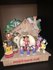 New Mickey Mouse Club House Musical Snow Globe Music Box Disney Store Dumbo