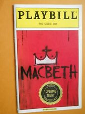 June 2000 - The Music Box Theatre Playbill - MacBeth - Official Opening Night