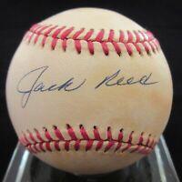 Jack Reed Signed AL Baseball - PSA DNA