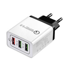 Quick Charge 3.0 3-Port USB 5V 3A Phone Wall Home Travel Fast Charger Adapter