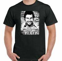 Pablo Escobar T-Shirt Mugshot Mens Funny Narcos TV Show Cartel Drug Cocaine Top