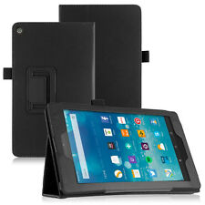 Custodia stand eco pelle NERA pr Amazon kindle Fire HD 8 2015 booklet protezione