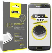 3x Samsung Galaxy S7 Schutzfolie, 100% Displayabdeckung, dipos Flex Folie