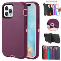Heavy Duty Armor Case Cover+Belt Clip Fits Otterbox For iPhone 12 Pro Max/Mini