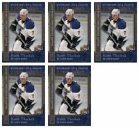 (5) 2008-09 Upper Deck Biography of a Season #BS14 Keith Tkachuk Lot Blues