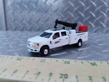 1/64 CUSTOM farm toy Ford f350 case ih  dealer service pickup truck crane nice