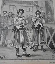 1905 Honneurs Funèbres Trompettes de la musique Militaire Chinoise