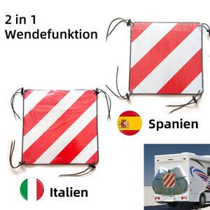 Warntafeln Warnschild reflektierend Italien Spanien 50x50cm Aluminium Heckträger