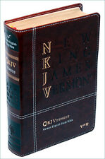 NKJV Bible Bilingual English Korean Dark brown leather NEW in box