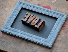 LOVE Collage Letternbild Holzlettern Holzbuchstaben Lettern Letter wood type
