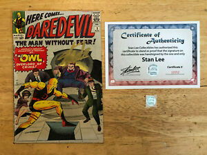 DAREDEVIL 3 SIGNED STAN LEE ORIGIN & 1ST APPEARANCE OF THE OWL KIRBY ROSEN