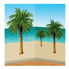 HAWAIIAN TROPICAL ISLAND BEACH SCENE SETTER PALM TREE PROPS THEMED DECOR ADD ONS