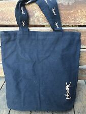 YSL Yves Saint Laurent Canvas Parfume Black Shopping Carry Organiser Tote Bag